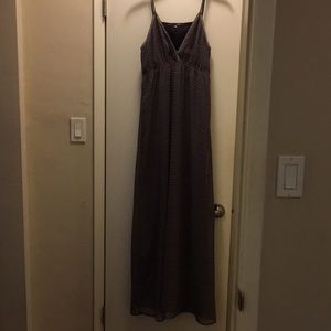 Cute maxi dress with open back detail